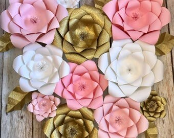 Paper flowers, flower wall, 3d flowers, backdrop, wedding, photobooth, bridal shower, baby shower, nursery room, party decorations