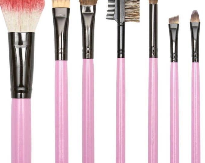 Pink Makeup Brush Set of 7