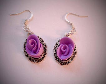 Earrings pink pastel purple