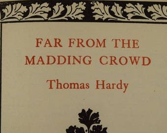 Far From the Madding Crowd Thomas Hardy 1898 Early edition
