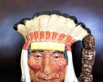 Royal Doulton North American Indian LRG Toby Jug Mint Condition D6611 Ship Free