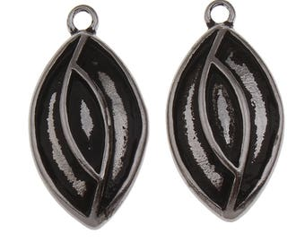 1/2/3 Pieces Stainless Steel Blacken Oval Setting
