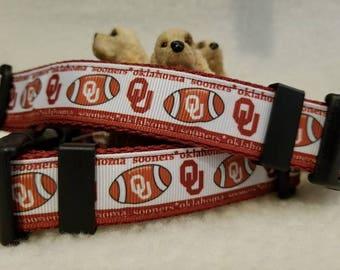 Sooners Handmade Dog Collar 1 Inch Wide Large & Medium