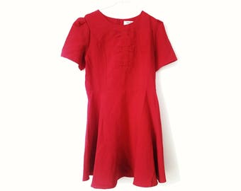RED LACES DRESS / / vintage clothing / / network / / laces / / dress / / gift for woman