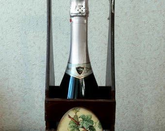 Короб для бутылки вина, шампанского   Basket for wine, champagne. basket for a bottle