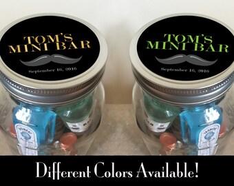 Minibar in a Jar - Mustache - Customizable