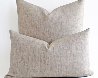 ANY SIZE  Custom Made Solid Natural linen pillow,  Raw linen pillow, Linen Throw Pillow, Linen Pillow Case, Linen pillow shams, Linen Pillow