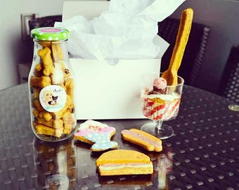 Dante's Diner Delights Barkery Box /Healthy Dog Treats /Organic Dog Treats /Dog Bakery /Dog Birthday /Dog Lover Gift /Dog Treat Box