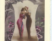 Tango: Vintage LGBTQ+ Card - lesbian Mother's Day card, newlywed lesbian wives, first dance, married lesbians card, gay girlfriends card