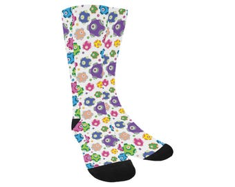Rolling Socks - Knee High Socks Katamari Socks Katamari Cousins Socks Katamari Damacy Socks Video Game Socks Ichigo Dipp Trouser Socks