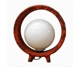 Vintage Ceramic Space Age Lava Lamp with Globe, 1970's Germany - Ufo Table Lamp - Space Age Table Lamp - 1970's West German Lamp