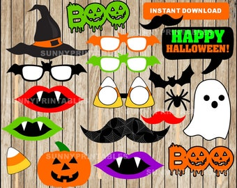 halloween photo booth props printable halloween photo props instant download halloween party - Halloween Photography Props