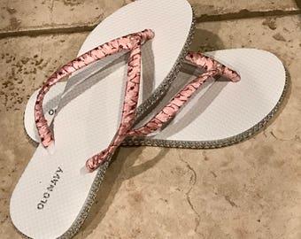 Pretty in pink flip flops