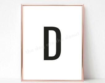 Letter D Print Etsy