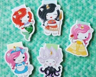 Unicorn Princess Magnetic Bookmark Set