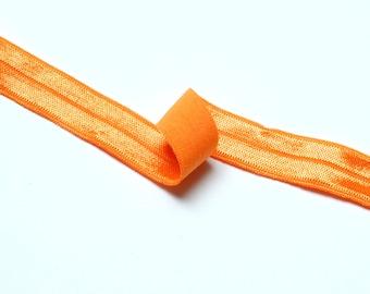 1m of fold over elastic (16 mm) FOE in Orange