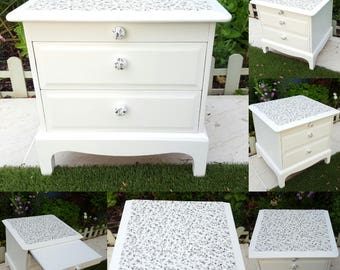 Stag Minstrel Bedside Cabinet Chest of Drawers Nightstand Painted with Annie Sloan Paint