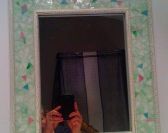 Vintage Mosaic - Glass Framed Shabby - Chic Style Decorative Mirror