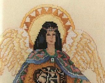 SPRINGSALE Vintage Six Heavenly Angel Counted Cross Stitch Designs