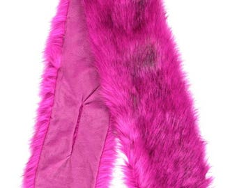 LIMITED STOCK gorgeous Winter 2018 New Arrival BOOTYLEGGINGS Faux Fur Fuschia scarf Shawl Cross Through hot bright pink fashion exclusive!!!