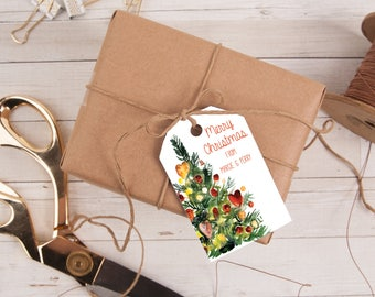 Personalized Gift Tag, Christmas Tree