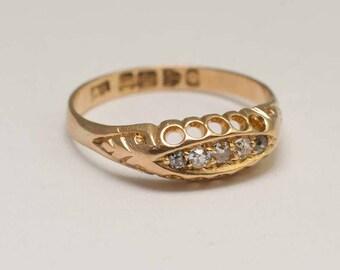 Victorian 5 Stone Diamond Ring