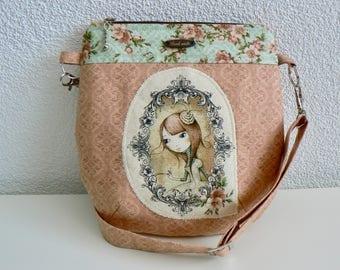 Crossbody bag, for kids, present, for girls, crossbody bag for girls, children, gift, brown, princess