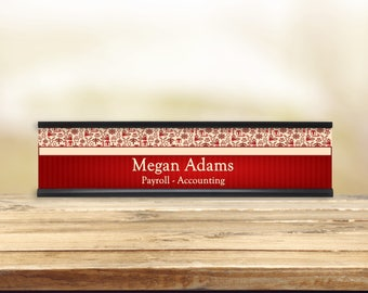 Holiday In Red Desk Name Plate