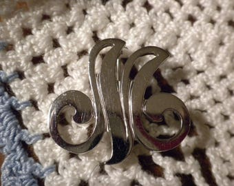 Vintage Danecraft Sterling Silver Initial M