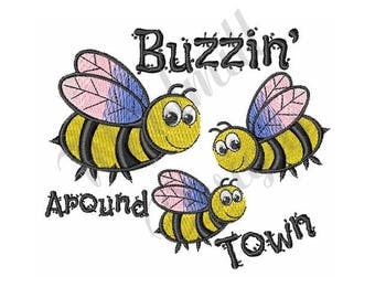 Buzzy Bees - Machine Embroidery Design