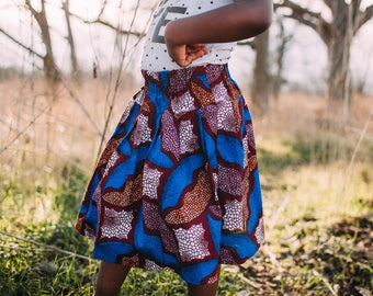 Tami Girls Print Skirt