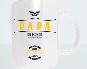 "Christmas dad gift - Mug personalize ""Best Dad in the world"" - Dad Christmas gift idea - gift fathers day"
