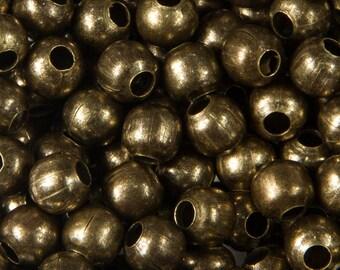 100 beads round 4mm antique bronze - 21307