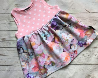 Girls dress, baby dress, sleeveless dress, summer dress, toddler girls dress,