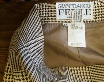 GIANFRANCO FERRE '/gonna/tartan/quadri/scozzese/Principe of Wales/Made in Italy