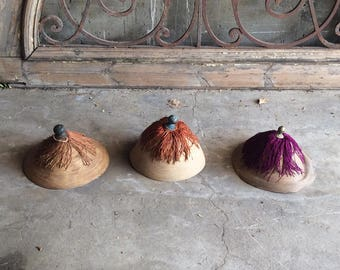 Antique Chinese Ceremonial Summer Hats or Chaoguan