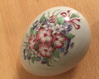 Vintage Porcelain Egg with Hidden Storage