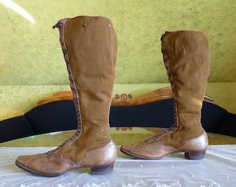 1895 Bicycle Boots, antique boots, antique shoes, Victorian Boots, Victorian Sport Shoes