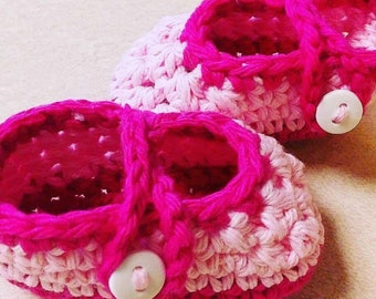 0-3 Month Mary Jane Baby Booties (Ready to Ship)