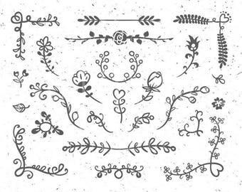 Frolal elements svg Floral Ornaments svg Flower svg Branch svg Floral svg Leaf svg Wedding Ornaments svg Floral Design svg Floral Elements