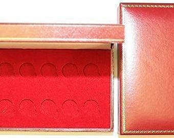 Red Padded Coin Cases To Hold 10x Full Sovereigns