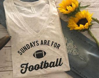 Sundays are for Football, Football Tee, Football y'all tee