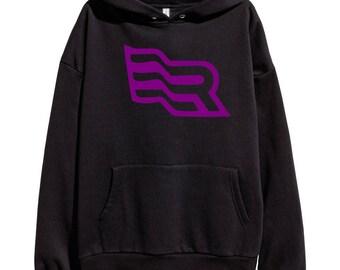Eminem Revival Flag Purple Logo Hoodie Classic Hip Hop Rap Style Sweatshirt Revival Slim Shady Records Aftermath Entertainment Detroit