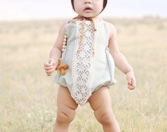 Sage Lace Romper, jumpsuit, onsie, spring outfit, crochet lace