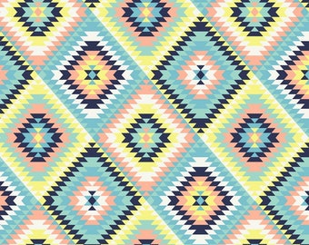 Aztec Quilt  Anti-Pill Fleece Fabric fabric by the yard/David Textiles/Free shipping available/tribal fabric/southwest fabric