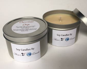 Chocolate Chip Cookie Dough 8oz Soy Candle