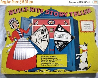 Christmas In July Sale Built-Rite Story Teller, Old Mother Hubbard, Tale of The Five Little PIgs, Two-Sided Activity Board Book, Action Nurs