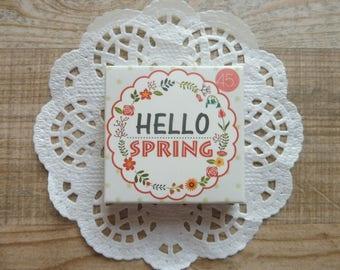 "Stickers 45 pezzi/pieces set ""Hello spring"""