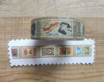 Tape 10 m with 1.5 cm retro designs