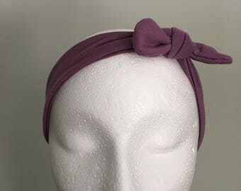 Toddler topknot headband {purple}